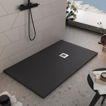 Piatto Doccia in mineral marmo Nero effetto pietra | Pietra Plus